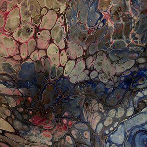 """""""Chlorine"""" Original Fluid pour painting on canvas"""